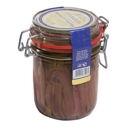 Anchovy filets in oil in airtight jar