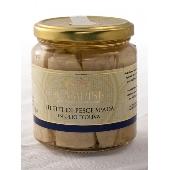 Swordfish filet in olive oil in jar