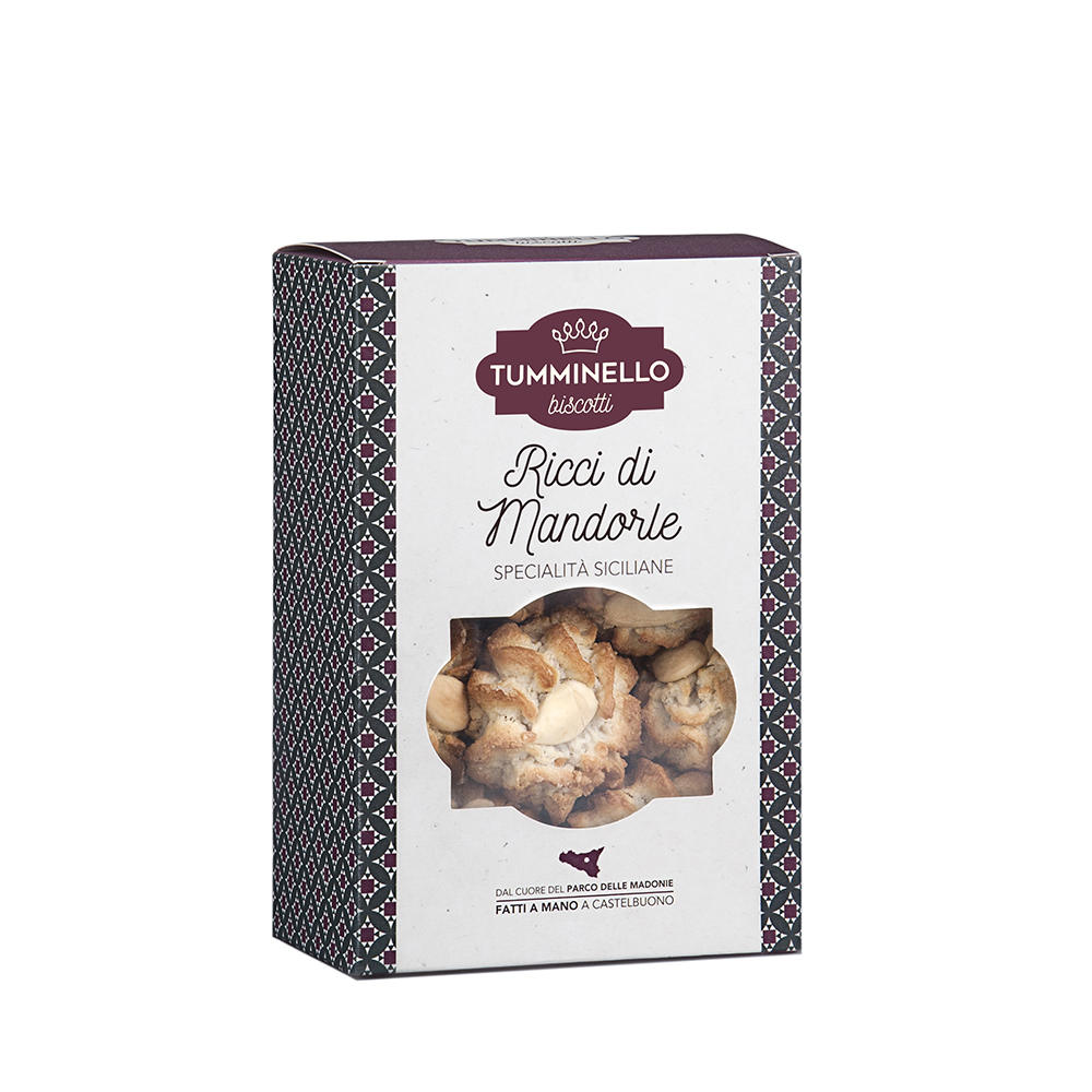 Tumminello Biscuits - Sicilian  Curly Almond Sweets