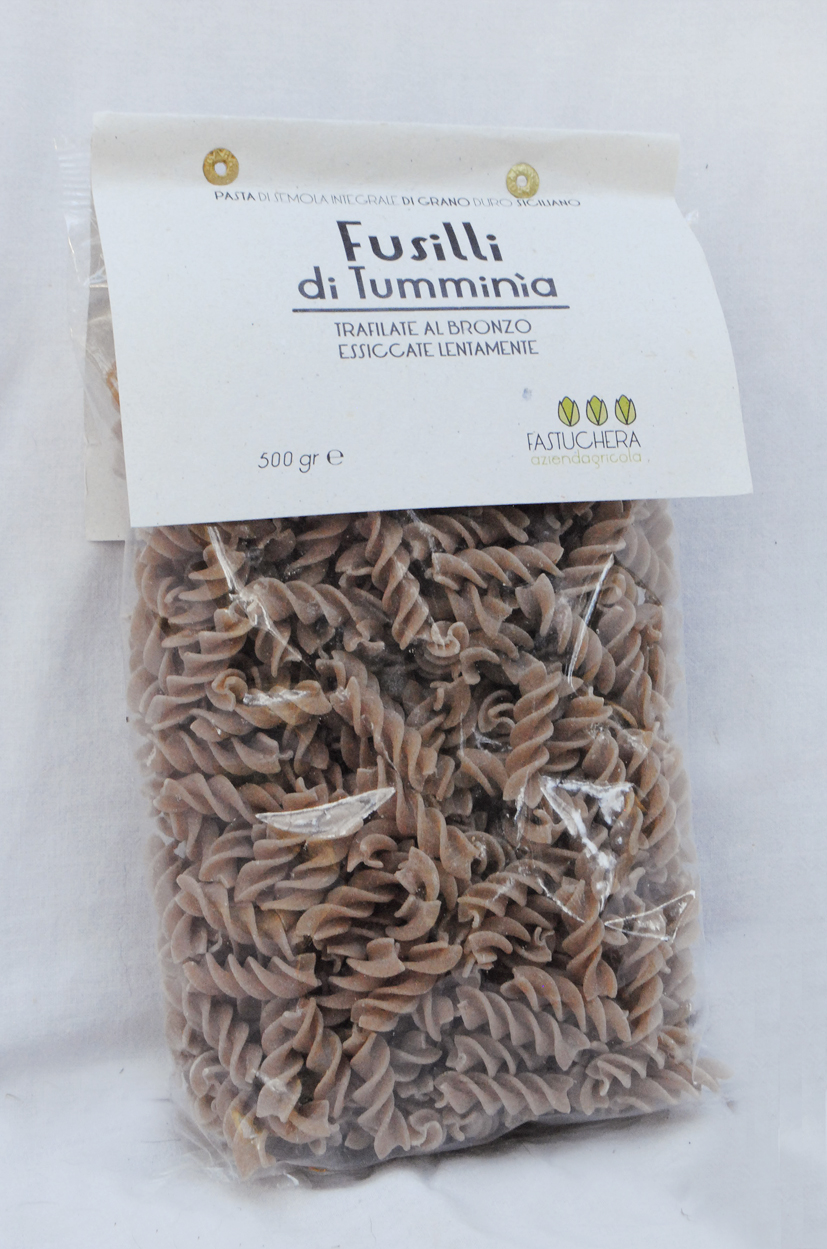 Semi-wholemeal Tumminia wheat Fusilli - Fastuchera