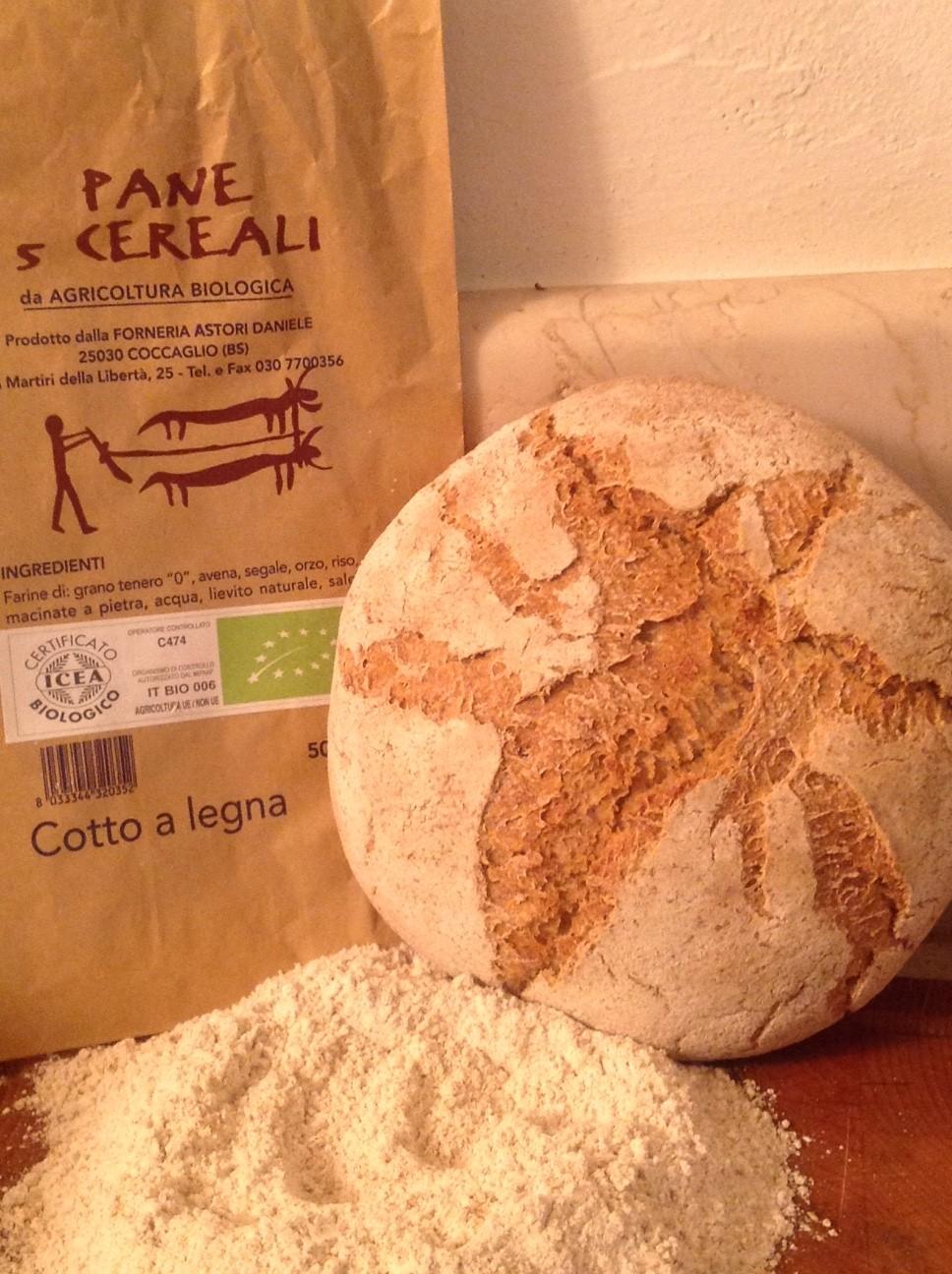 Stonebaked organic bread with 4 cereals - Forno Astori