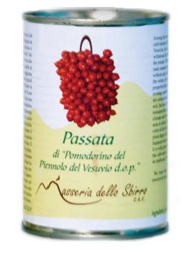 Sieved tomatoes made from Pomodorino del Piennolo del Vesuvio DOP - tin can
