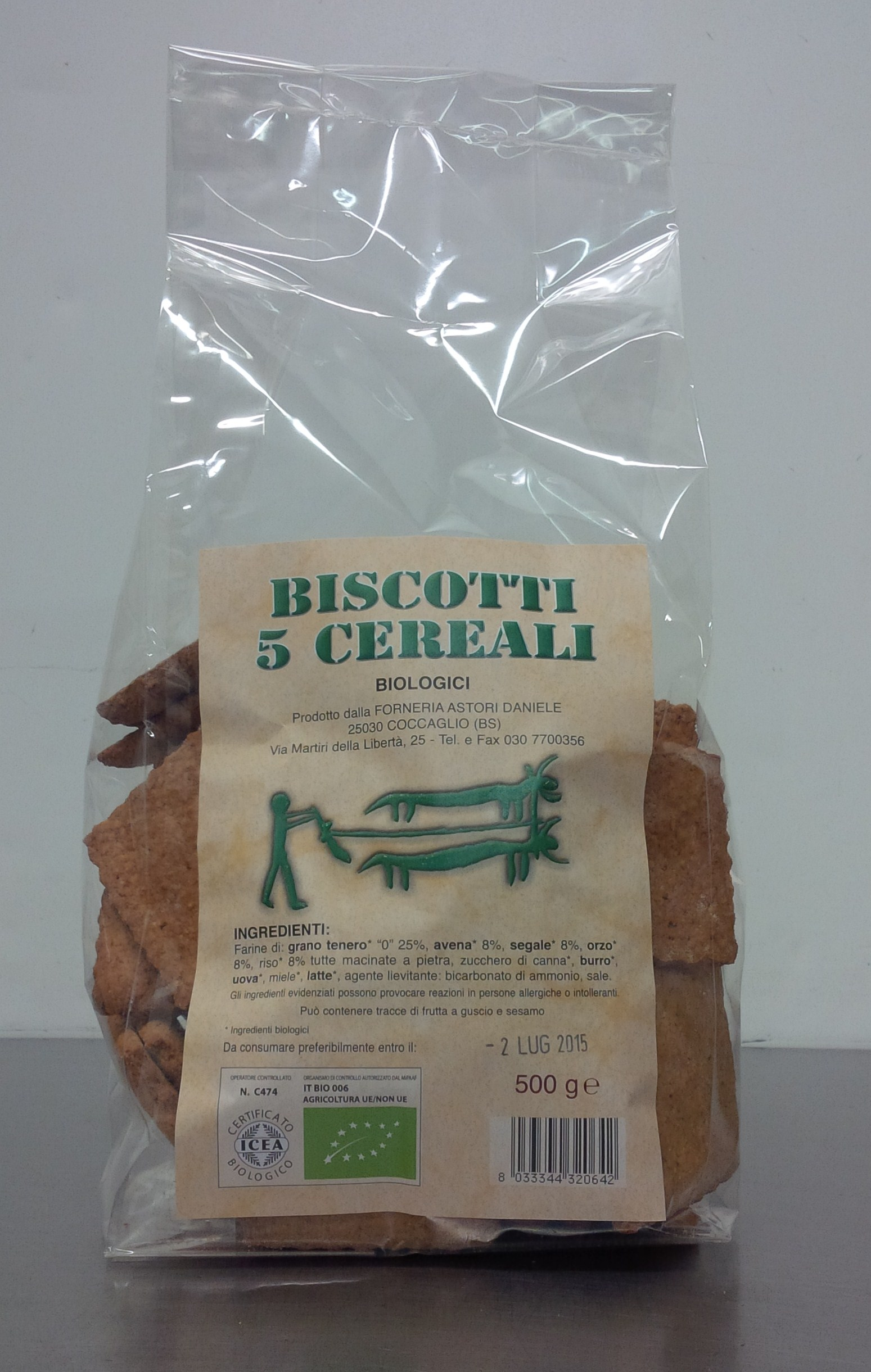 Artisan biscuits made from 5 cereals - Forno Astori