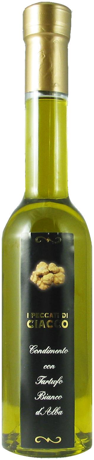 Extra virgin olive oil with white truffles from Alba - I Peccati Di Ciacco