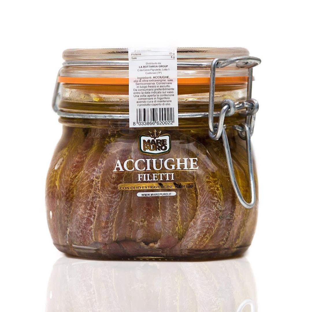 Sicilian Anchovies fillets - La Bottarga di Tonno Group