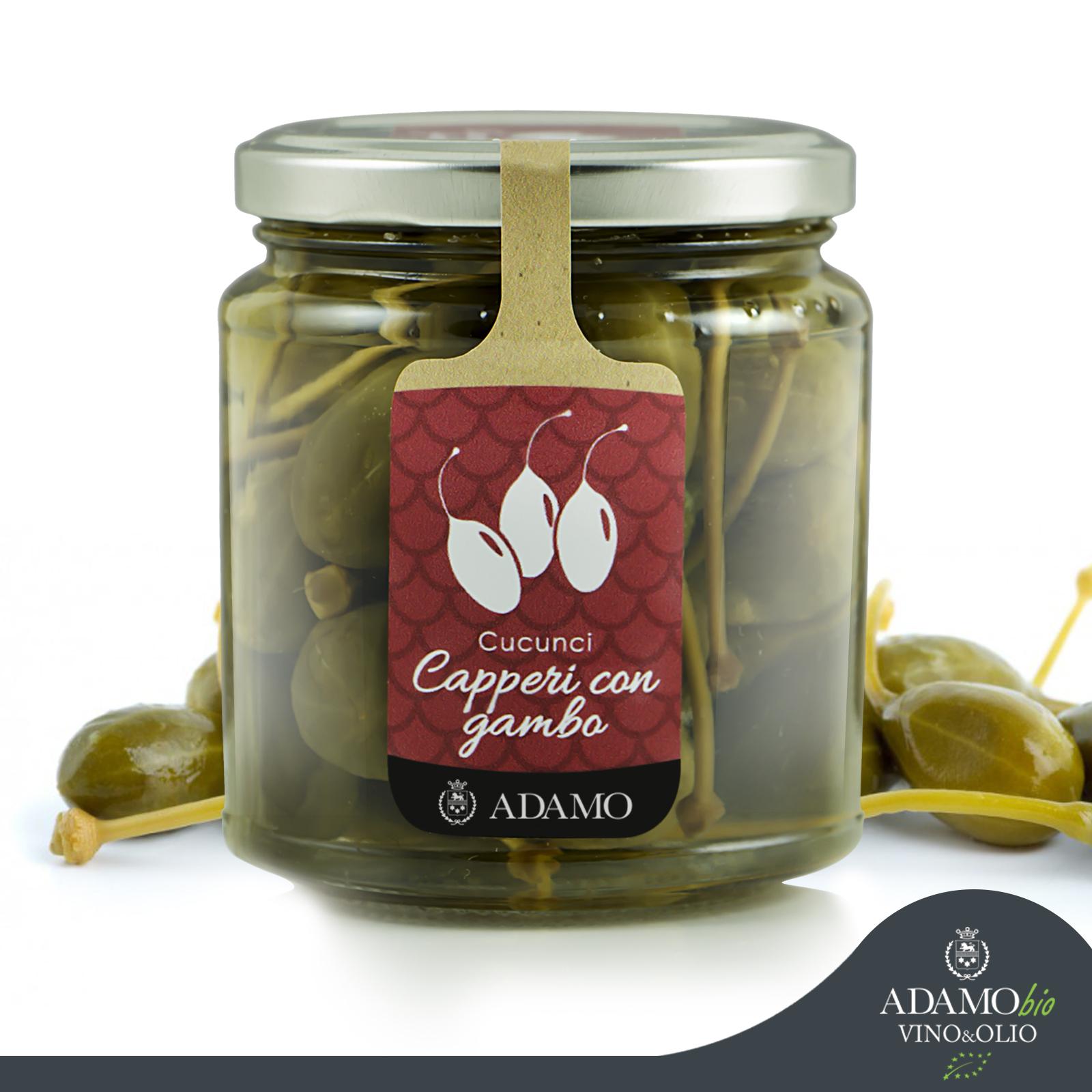 Cucunci capers with stem (caperberries) - Azienda Agricola Biologica Adamo