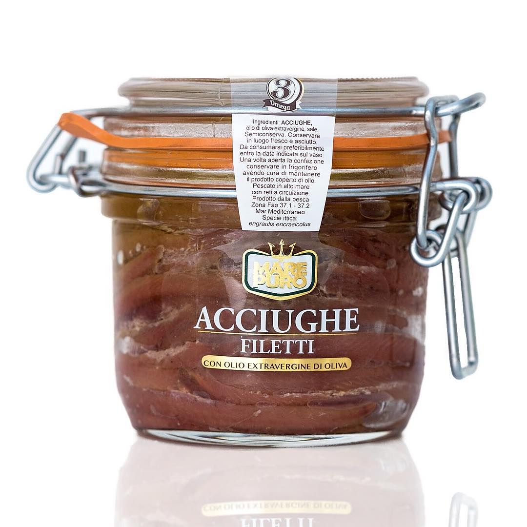 Extra anchovy fillets in oil Extra virgin olive oil - Mare Puro