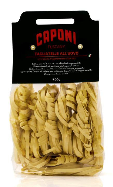 Tagliatelle (egg pasta) - Caponi