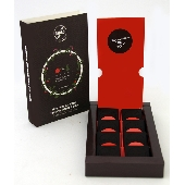 8 small tablets of traditional Modica chocolate with Sicilian Red Orange and marjoram