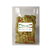 Green Olives Crushed with Calabrese - Calabria Scerra